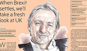 """When Brexit settles, we'll take a fresh look at UK"" Patrick Rivière in the Financial Times"